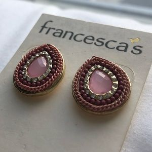 teardrop texture earrings